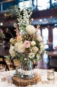 rustic jar centerpieces rustic wildflowers in jar wedding centerpiece