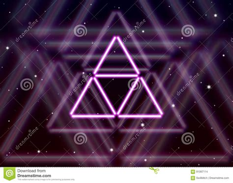 triangle pattern highlights magic triangle abstract background with highlights royalty