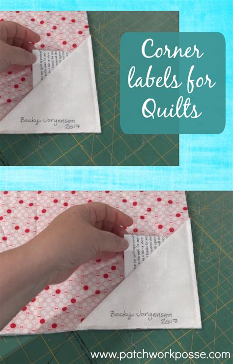 Materials Needed To Make A Quilt by Corner Quilt Labels Tutorial