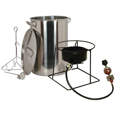 Cing Cooker With Grill by King Kooker 174 30 Qt Outdoor Turkey Fryer Package 231733