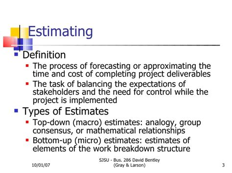 three types of construction estimating techniques apex estimating time costs