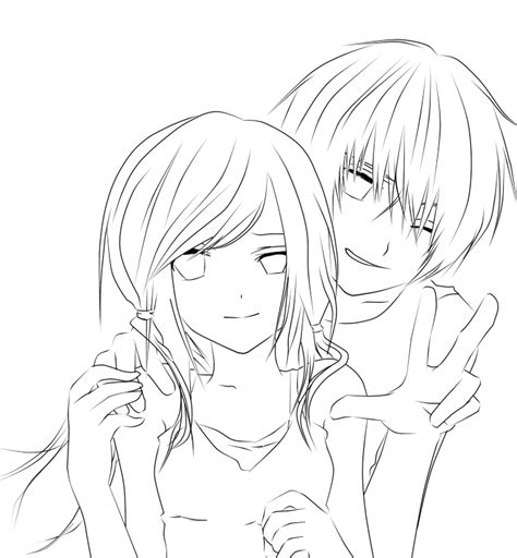 anime couple hugging coloring pages coloring pages