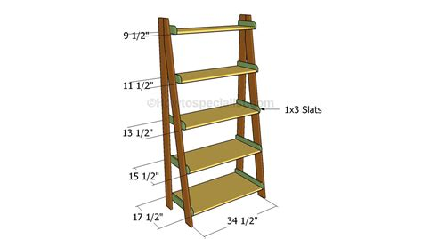 ladder bookcase plans woodwork