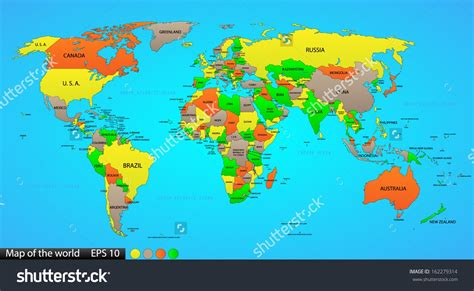 world map image with country names hd images