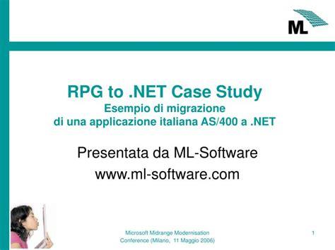 study esempio ppt rpg to net study esempio di migrazione di una