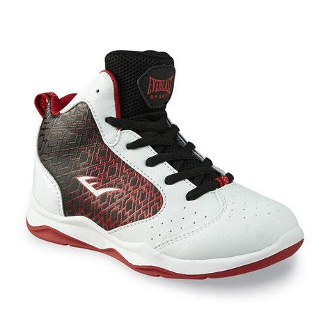 kmart basketball shoes everlast 174 sport boy s code white black basketball shoe
