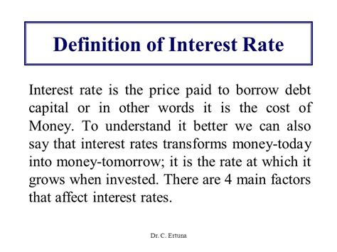 what is the interest rate on buying a house determination of interest rates ppt video online download