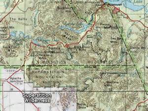 map of mountains in arizona superstition wilderness