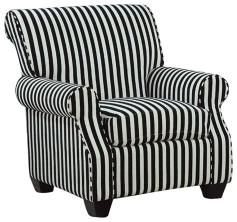 coaster club chair  black  white stripes contemporary armchairs  accent chairs