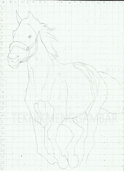 tutorial menggambar menggunakan pensil teknik menggambar kuda dengan pensil teknik menggambar