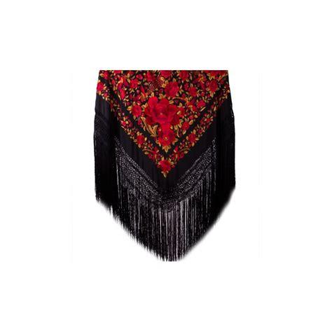 Pashmina Size Jumbo Creamson large shawl black golden g1 190