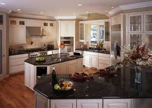 White kitchen cabinets with black granite countertops home furniture