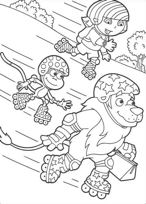 dora boots birthday coloring pages