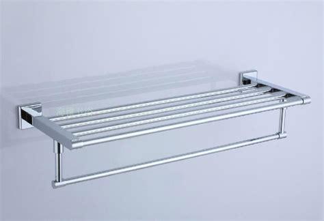 Stainless Steel Bathroom Shelf Polished Chrome Stainless Steel Bathroom Shelf With Towel Bar 7802 Contemporary Towel Rails