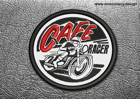 design embroidery patch design embroidery cafe racer cafe racer biker patch
