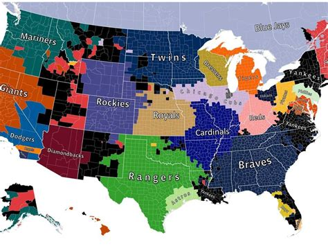 mlb map mlb teams map images