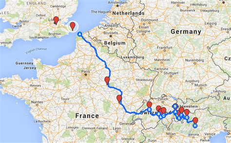 map uk to italy route footie mad nomads