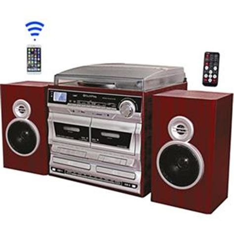 techplay odcr2110 wd shelf stereo w turntable dual