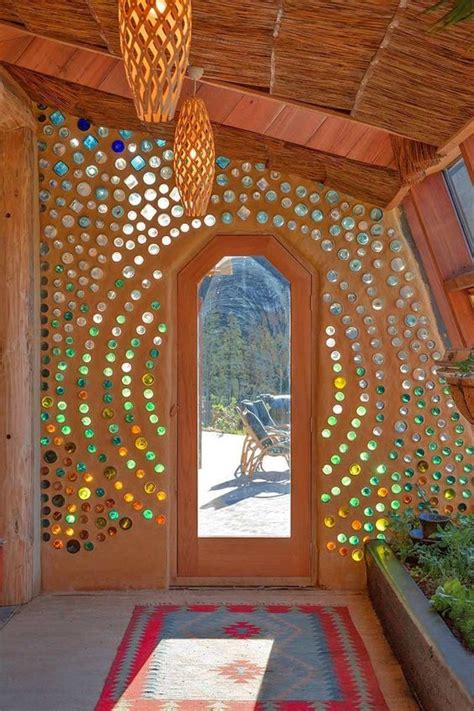 gorgeous glass bottle wall ive