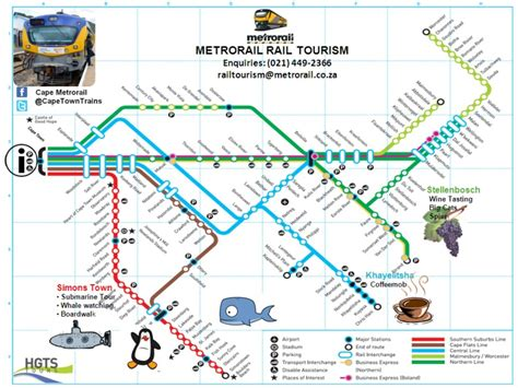 metrorail map cape town tourist maps maps of cape town s community transport network