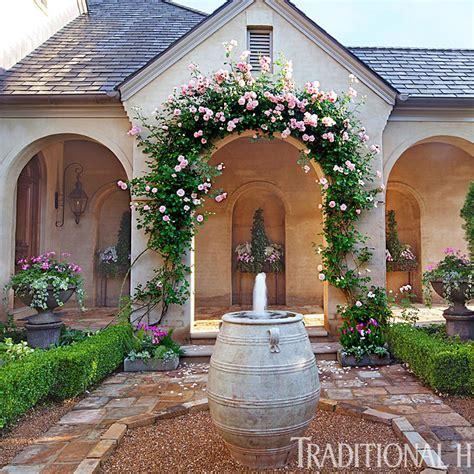 outdoor courtyard picturesque courtyard garden traditional home