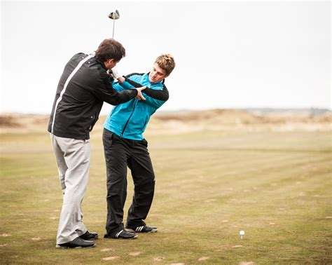swing the clubhead golf instruction christmas golf lesson vouchers available prestwick golf