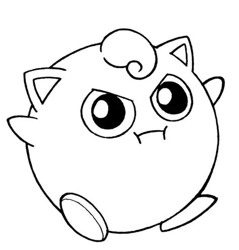 pokemon coloring pages jigglypuff cute pokemon outlines images pokemon images