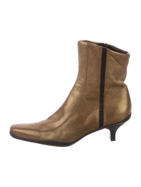 pointed toe ankle boots prada sport metallic pointed toe ankle boots shoes