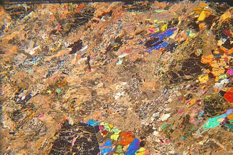 zoisite in thin section zoisite eclogite nordfjord norway thin section microscope