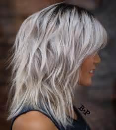 shag cuts for grey hair 90 sensational medium length haircuts for thick hair