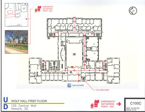 Church Building Floor Plans by Evacuation Plan Environmental Health Amp Safety