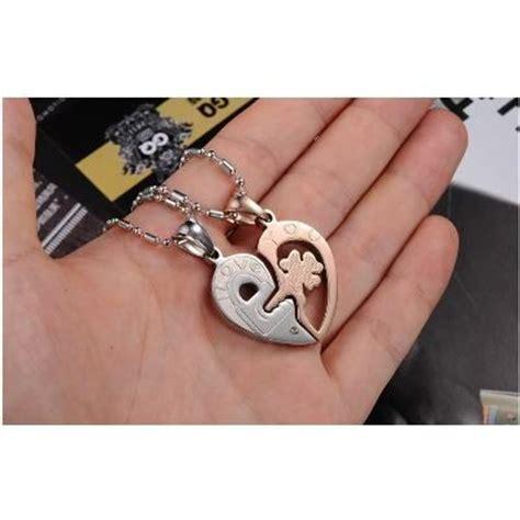 cadenas para novios originales collares de corazon para parejas amor novia
