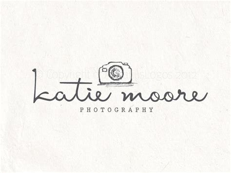 photography logo design sketched camera logo by