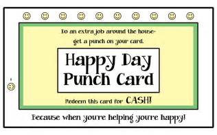 like a pretty petunia happy day punch cards