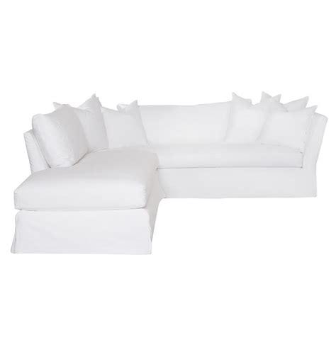 white slipcovered sectional sofa cisco brothers seda denim white coastal down slipcover