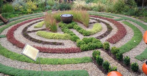 make your own labyrinth using pea gravel and succulents