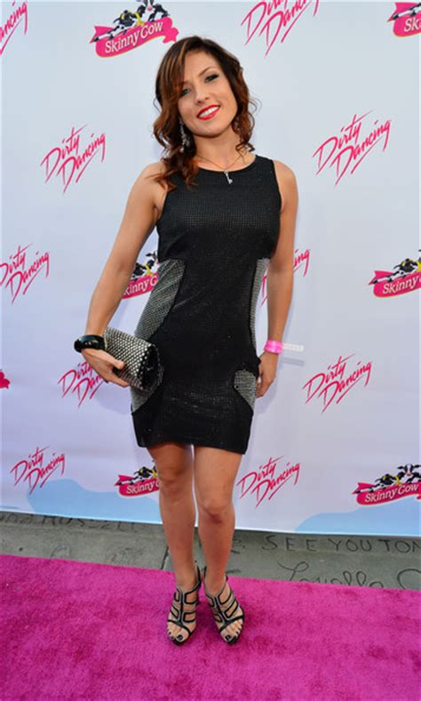 dwts sharna burgess attends  anniversary  lionsgates dirty dancing  pure