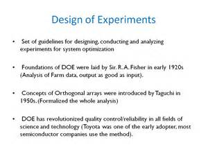 Design Of Experiments by Nanohub Org Resources Ece 695a Lecture 35 Design Of