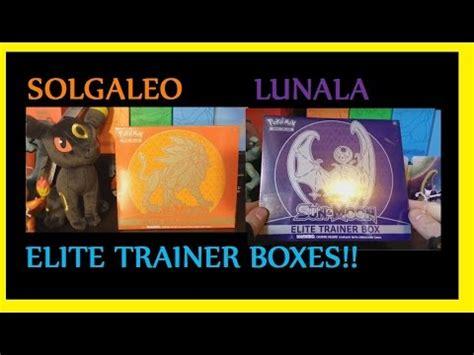 Elite Trainer Lunala opening compilation solgaleo lunala elite trainer boxes