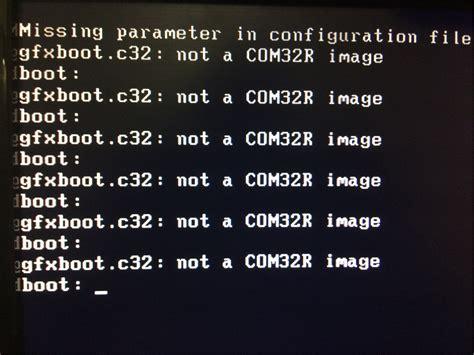 not a com32r image an ubuntu 16 04 64 bit bootable usb drive using the