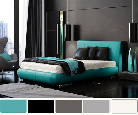 Modern Futuristic Furniture by Turquoise And White Pearl Bedroom Design Native Home