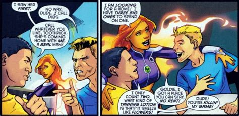 Starfire Shower by Starfire In The Changing Of The Clothes Bleeding Cool