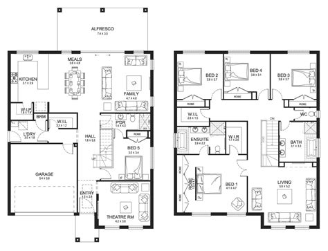 double storey house floor plans new home builders jewel 38 double storey home designs