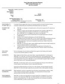 Catering Agreement Template by 10 Best Images Of Catering Service Agreement Template Sle Catering Contract Template