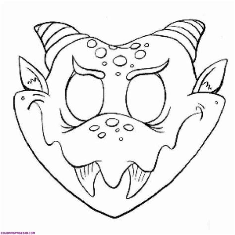 Monster Mask Coloring Page | monster mask