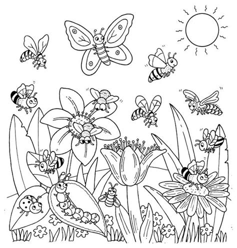 libro faerie garden spring colouring happy animal welcome to spring flower coloring page for kids coloring books