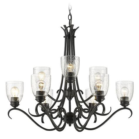 golden lighting 8001 ba2 blk sd seeded glass chandelier black golden lighting 8001 9 blk