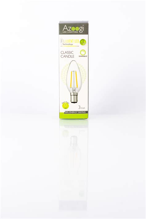 candele led candle led 3 watt b15 azoogi led lighting