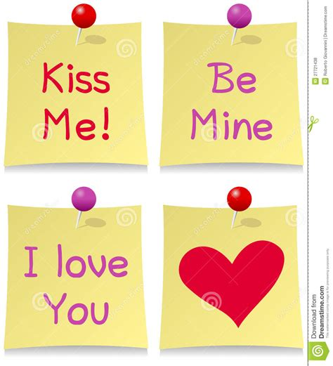valentines posts for s day post it set royalty free stock photos