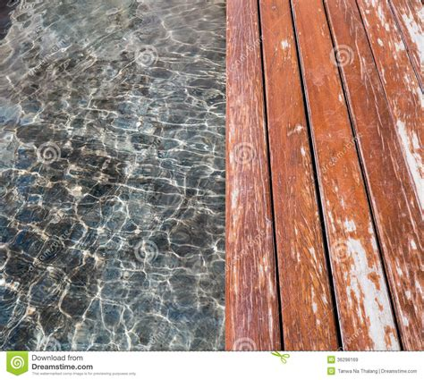 Water and wood floor stock image. Image of image, design